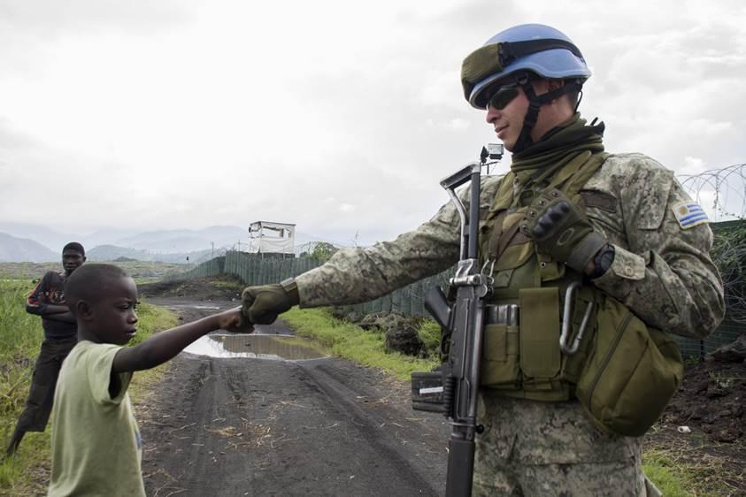 Uruguayan military UN Peacekeeper