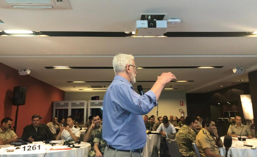 Alex Dressler training UN Peacekeepers in Uruguay