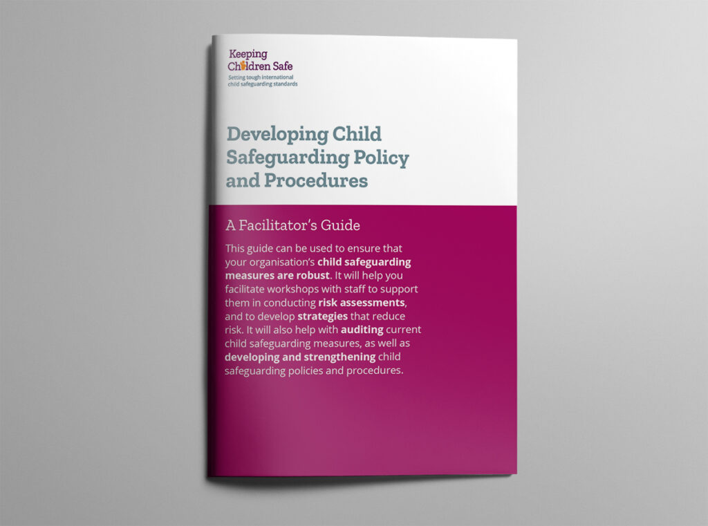 Developing Child Safeguarding brochure cover